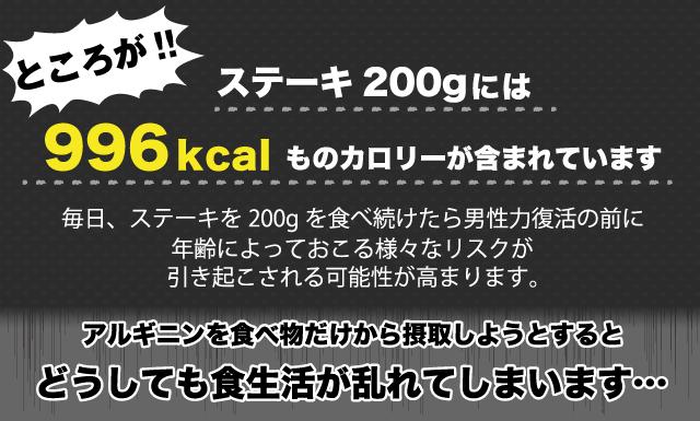 ステーキ200gには996kcalものカロリーが含まれ、どうしても食生活が乱れてしまいます。